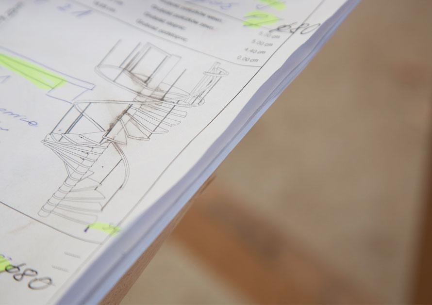 STREGER Treppenplanung mit Skizze